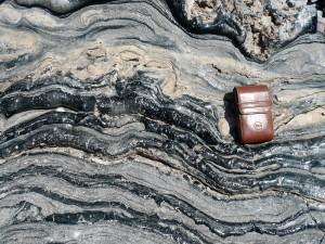 Obsidian - Fließstrukturen (Panum Crater)