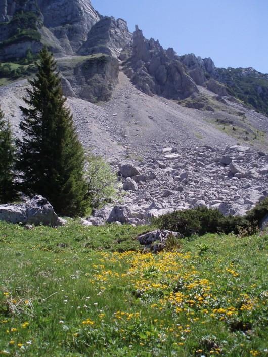 Sandling Bergsturz