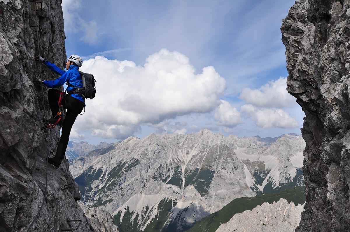 Klettersteig Innsbruck : Alpine geckos innsbrucker klettersteig c d mit martin stefan