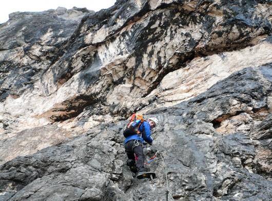 Kasi beim Abstieg über den Tissi Klettersteig