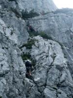 Einstieg Traunsee Klettersteig