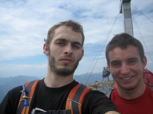 Kasi und Reini auf dem Traunstein (1.691m)