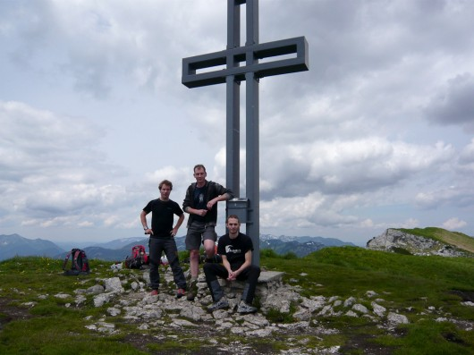 Sesi, Motzi und Kasi am Loser (1.837m)