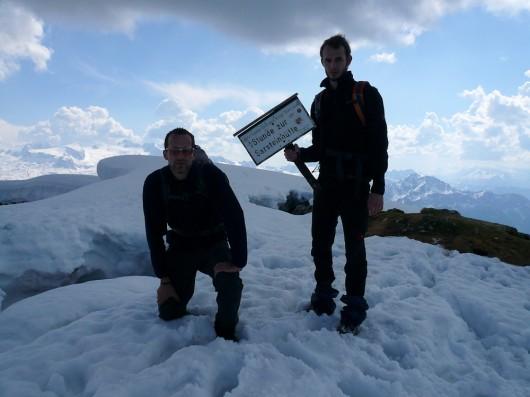 Am Gipfel des Hohen Sarsteins (1.975m)