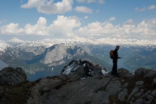 Das Tote Gebirge und Stefan davor