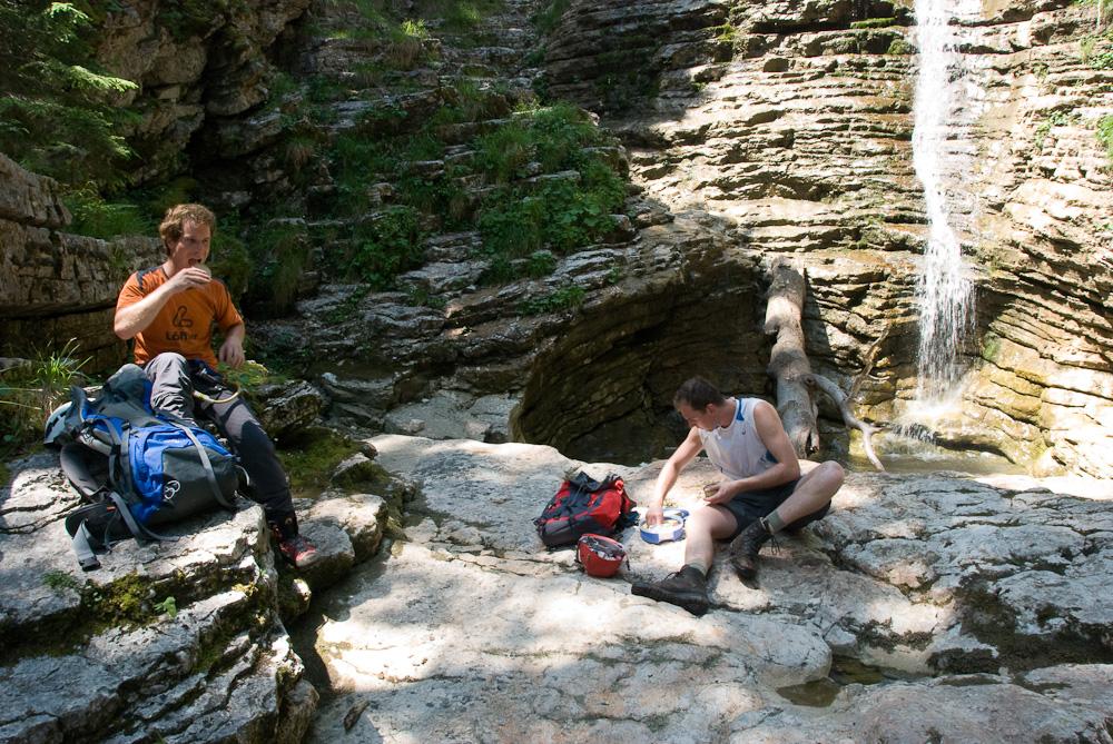 Klettersteig Postalmklamm : Alpine geckos postalmklamm klettersteig d mit sesi und motzi